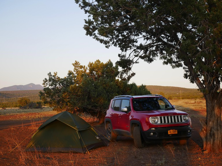 Tent Camping on Route 66,near Williams,Arizona. Image shot 08/2017. Exact date unknown.