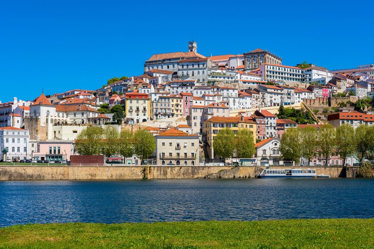 Coimbra Portugal as seen from across the Mondego River