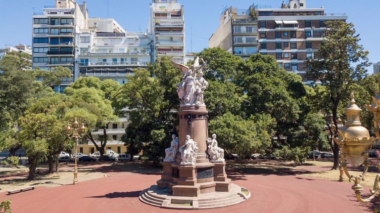 Homage from the French Community to the Argentine Nation, monument in Plaza Francia, Recoleta, Buenos Aires