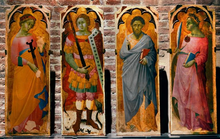 Saints Pisa museo di San Matteo 14th Century Italy Italia
