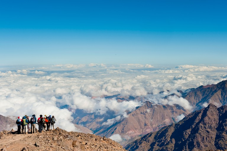 This is an image taken from the top of Jebel Toubkal (4, 167 m) the highest peak in northern Africa.. Image shot 2009. Exact date unknown.