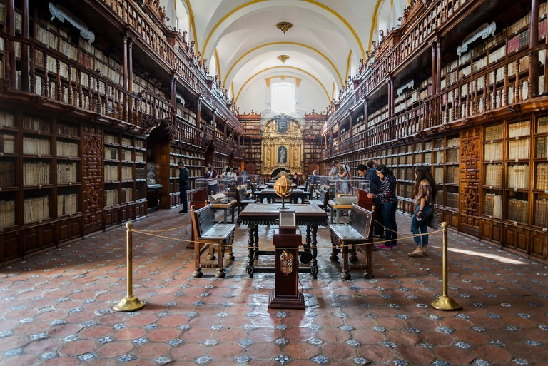 Biblioteca Palafoxiana, the first public library in colonial Mexico founded in 1646, Puebla, Mexico