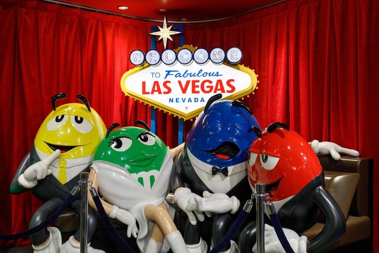 Las Vegas, Nevada - May 28, 2018 : M&M's World on Las Vegas Strip