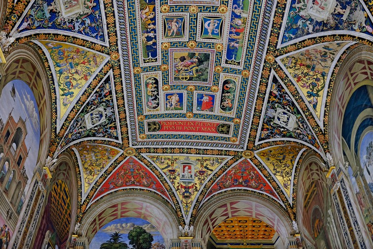 Siena's Biblioteca Piccolomini Library, decorated with frescoes by Pinturicchio