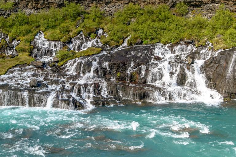Hraunfossar waterfalls - Western Iceland