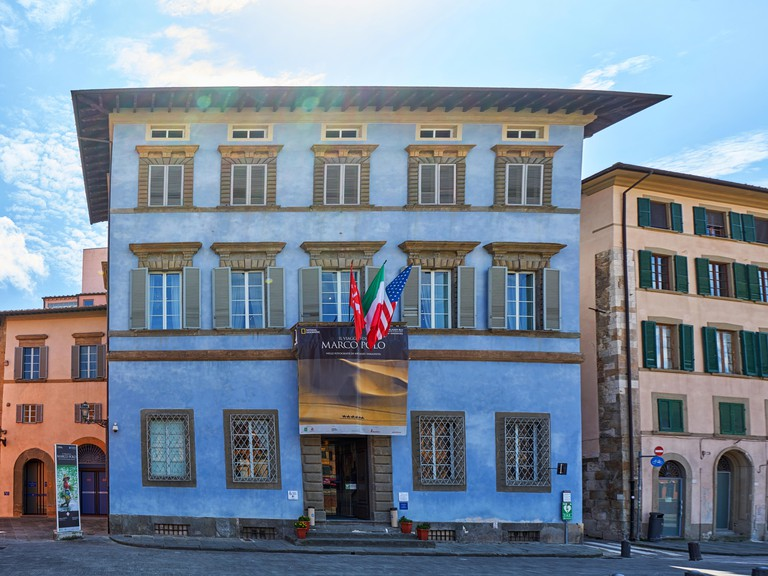 Pisa / Tuscany / Italy / May 2018 : Palazzo Blu is a center for temporary exhibitions and cultural activities in Pisa Italy