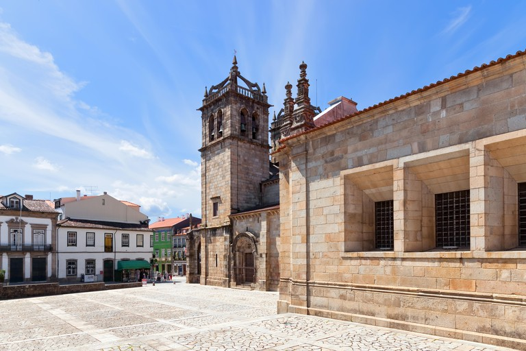 Braga, Portugal. Braga Cathedral aka Se de Braga, the oldest of all cathedrals in Portugal and a main Catholic worship place