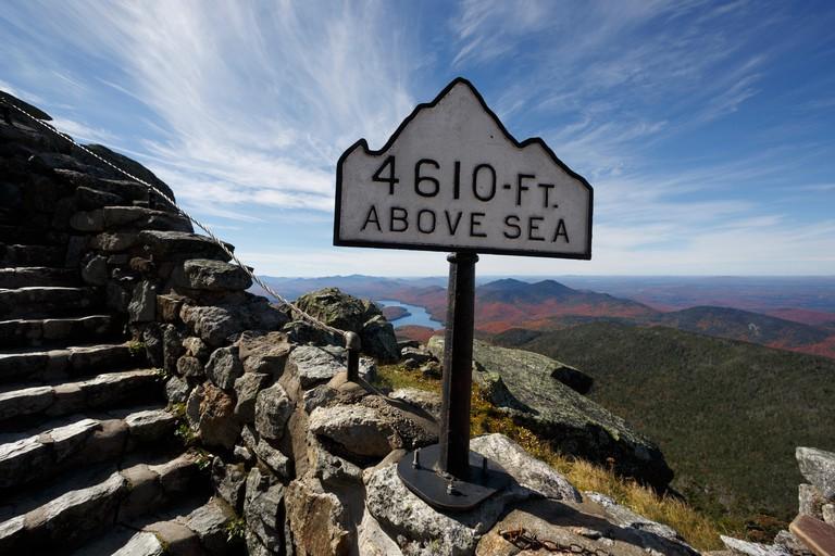 Summit trail, Whiteface Mountain, Adirondacks, New York, USA