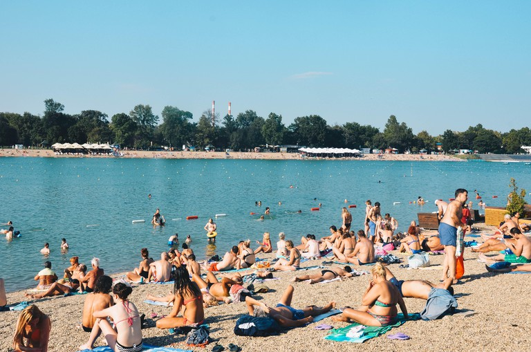 Ada Ciganlija ('Belgrade Beach'), Belgrade, Serbia, Balkans, September 2018