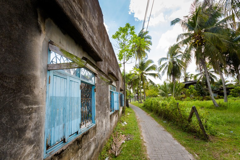Local village on Koh Klang island in Krabi in southern Thailand. Cityscape taken in south east Asia.