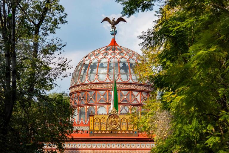 R7NG8A The Kiosco Morisco of Santa Maria la Ribera in Mexico City, Mexico