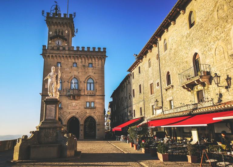 San Marino square of Palazzo Pubblico - Repubblica di San Marino