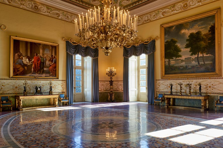 Naples Campania Italy. Museo di Capodimonte is an art museum located in the Palace of Capodimonte, a grand Bourbon palazzo in Naples, Italy. The museu