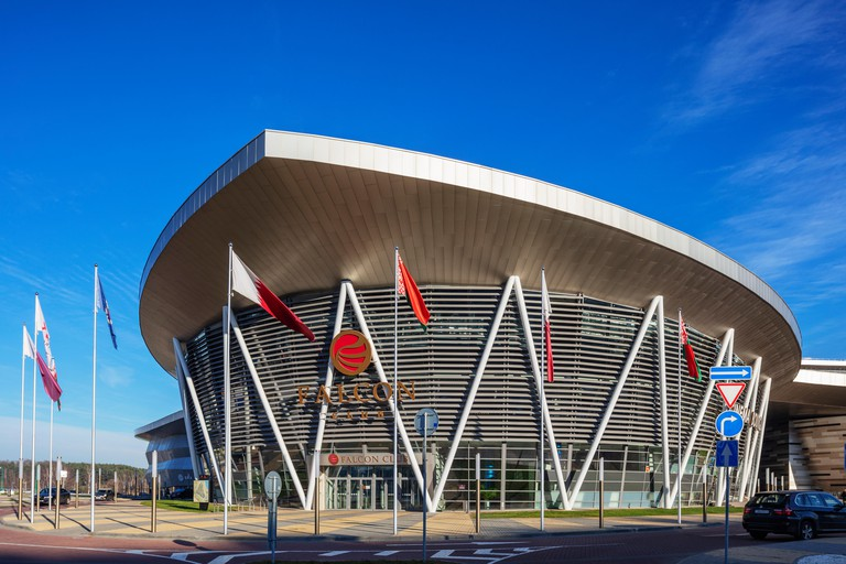 Europe, Belarus, Minsk, sporting venue for the 2nd European Games in 2019, Falcon Club cinema and leisure complex