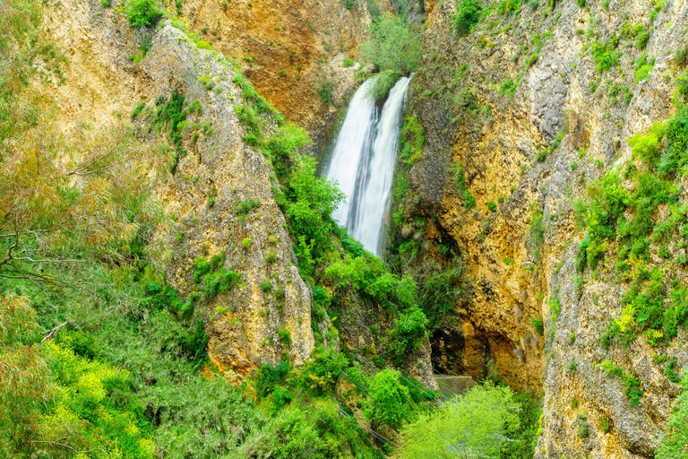 View of the Ayun Valley nature reserve, and the Tanur waterfall, in the upper Galilee, Northern Israel - T3G3M7
