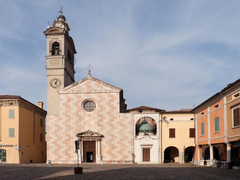 Italy, Lombardy, town of Sabbioneta, Chiesa dell'Assunta