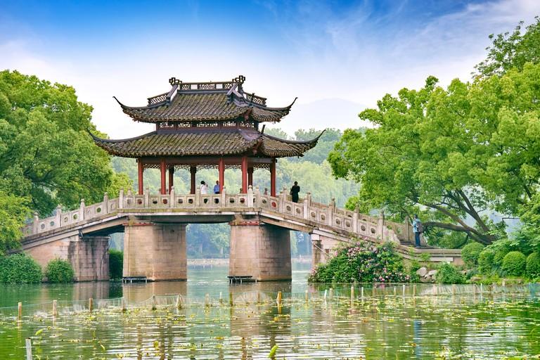 West Lake Pavilion, Hangzhou, China