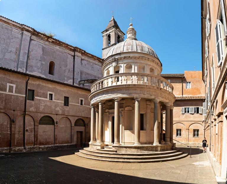 Tempietto di San Pietro in Montorio, Tempietto del Bramante temple, Janiculum, Gianicolo hill, Trastevere, Rome, Lazio, Italy, Europe