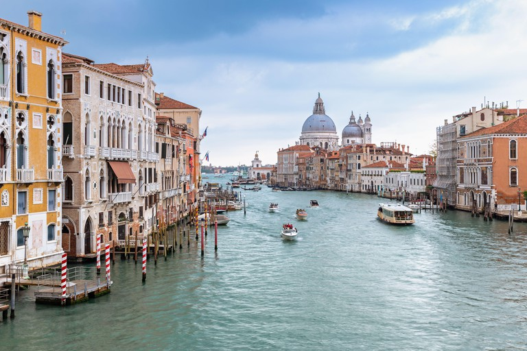 View over Grand Canal in Venice from Accademia bridge