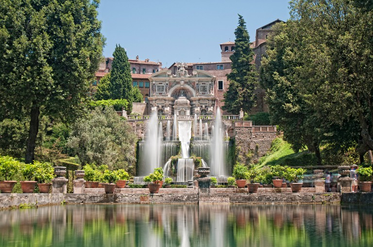 The Renaissance Gardens of the Villa d'Este, Tivoli, near Rome, Italy, Europe
