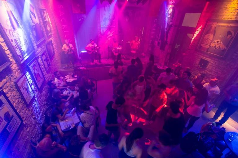 Samba club in the Lapa district, Rio de Janeiro, Brazil