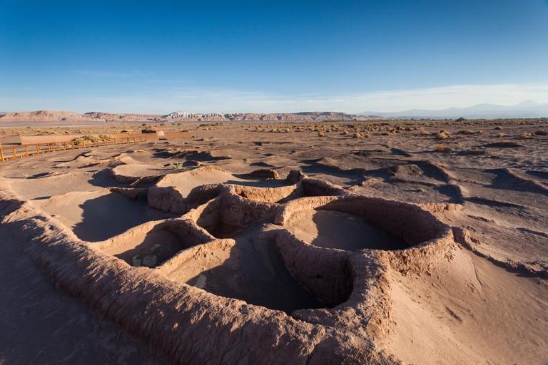 Chile, Atacama Desert, San Pedro de Atacama, Aldea de Tulor, ruins of ancient city of Tulor