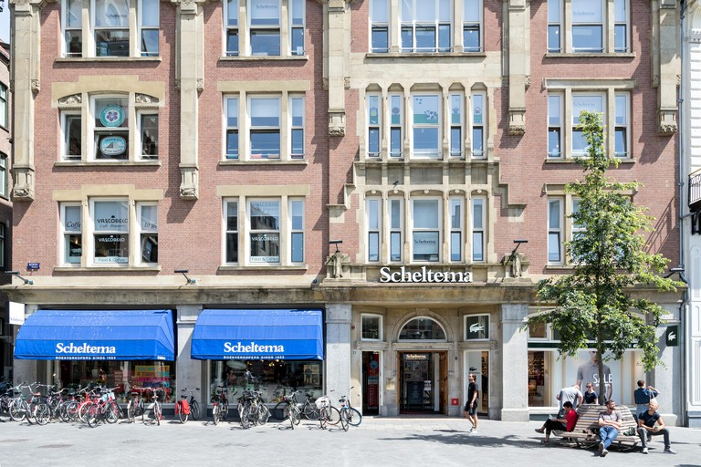 Scheltema store in Amsterdam, The Netherlands. Scheltema is one of the largest bookshops in the Netherlands with an area of 3200 square meters.