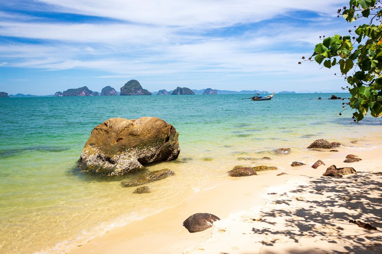 View to the Phang-Nga Bay from the Tub Kaek Beach in Krabi, Thailand.