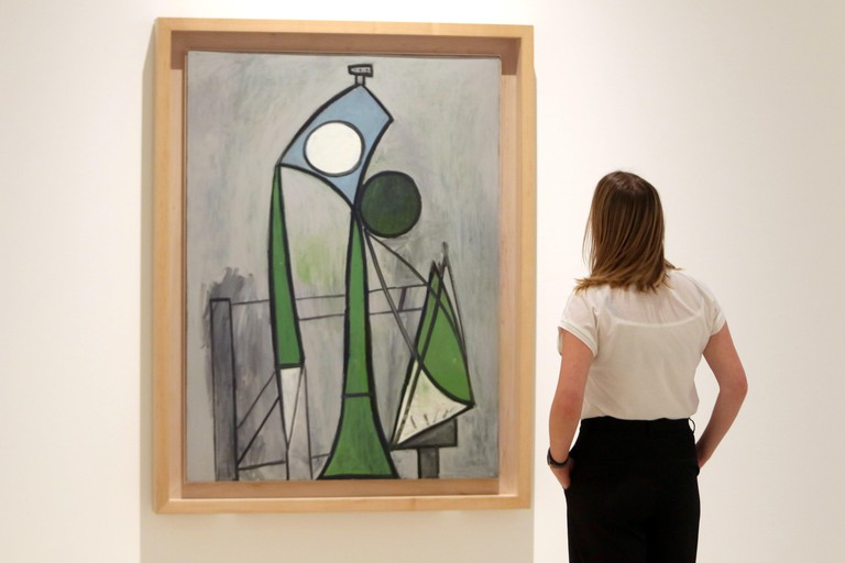 September 23, 2019: 23-9-2019 (Malaga Museo Picasso) Picasso and Calder discuss their vision and exploration of the void in the new exhibition of the MPM.The Picasso Malaga Museum (MPM) hosts until February the exhibition 'Calder-Picasso', with which a di
