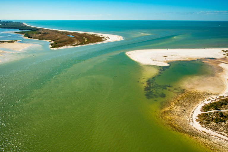Caladesi and Honeymoon Islands State Parks, Florida. Southwest Florida near Clearwater Beach, Gulf of  Mexico