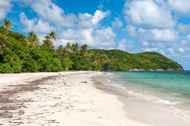 Manzanillo beach on the island of Providencia in Colombia.