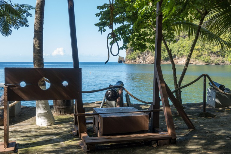 2AMHRW2 Wallilabou Bay, set of Pirates of the Caribbean movie, St. Vincent and The Grenadines, Windward Islands, Caribbean, West Indies