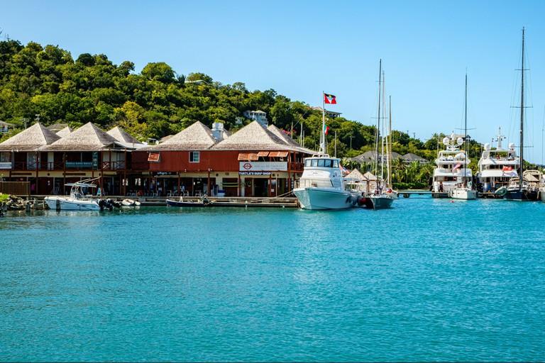 AVC Marina Service Boat, Antigua Yacht Club Marina Building, Falmouth Harbour, Antigua