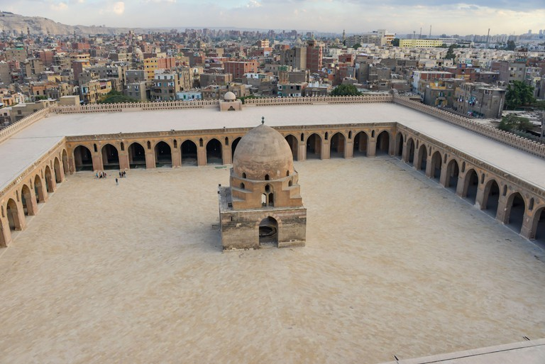The Mosque of Ahmad Ibn Tulun is Cairo's oldest mosque located in the Islamic area, Egypt.