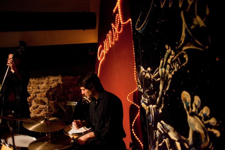 Live music in Sunset Jazz Club. Girona, Catalonia (Spain, Europe)
