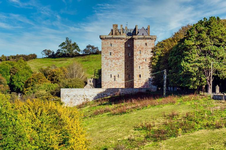Borthwick Castle Hotel in North Middleton south of Edinburgh in Midlothian Scotland