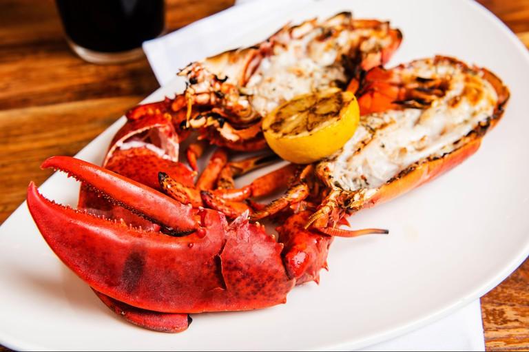 Lobster with grilled lemon