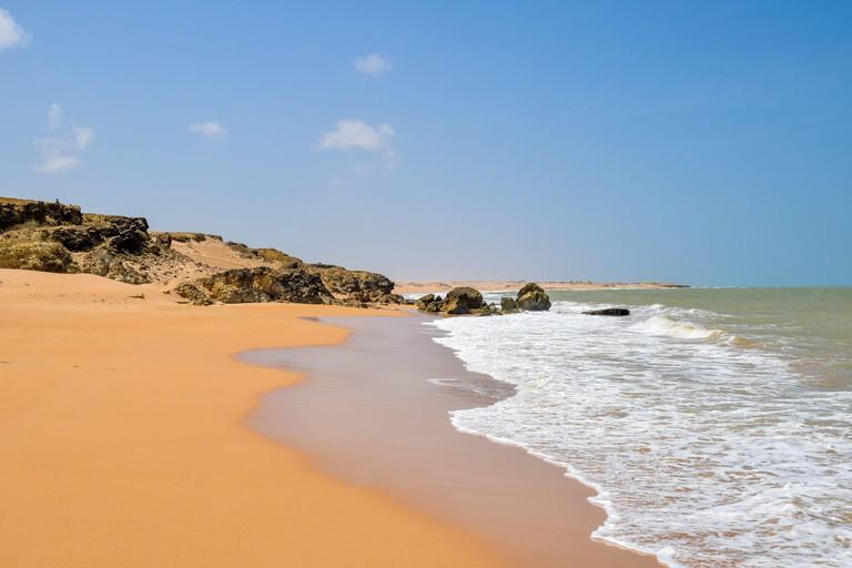 Sand dunes of Playa Taroa, La Guajira, Colombia