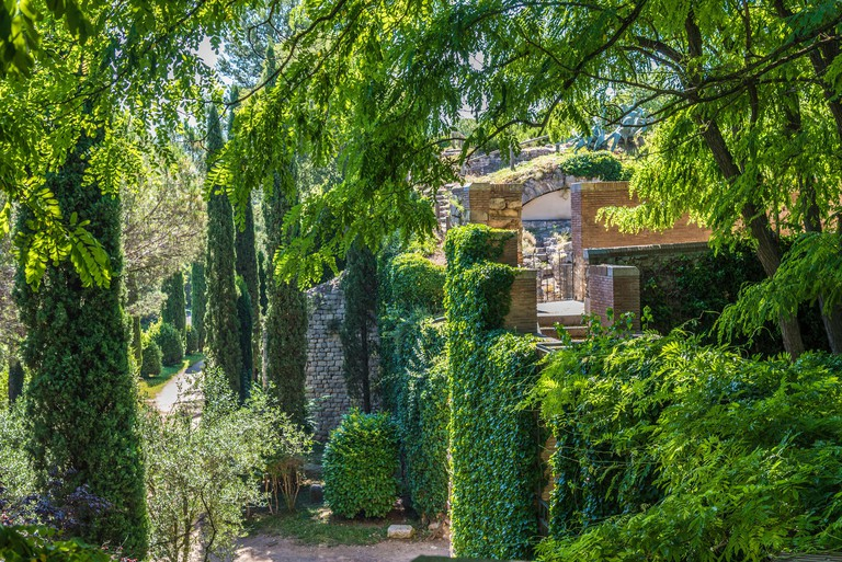Spain, Catalonia, Girona, jardins dels alemanys