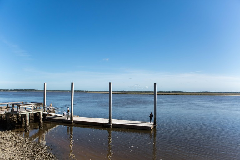 Fishing Dock in Crooked River State Park in Georgia