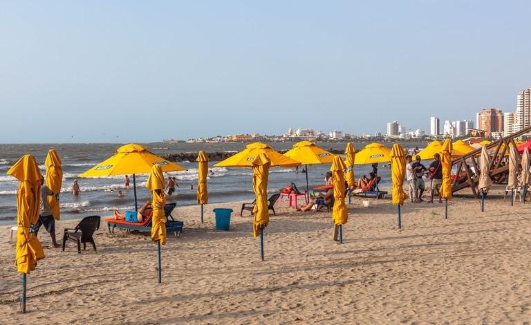 Bocagrande beach, Cartagena de Indias, Colombia.