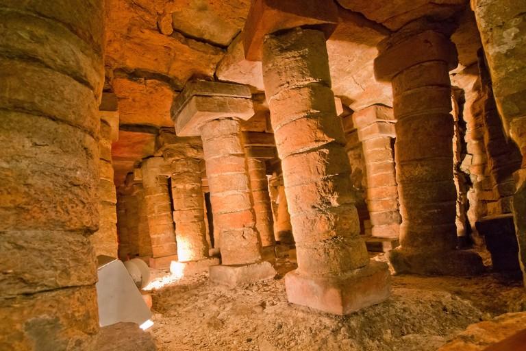 Roman Baths of Campo Valdes, Gijon, Asturias, Spain, Europe.