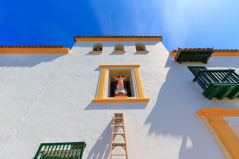 2DAH6AX Cartagena, Convent of Santa Cruz de la Popa (Convento de Santa Cruz de la Popa) located at the lookout that provides scenic panoramic views of Cartage