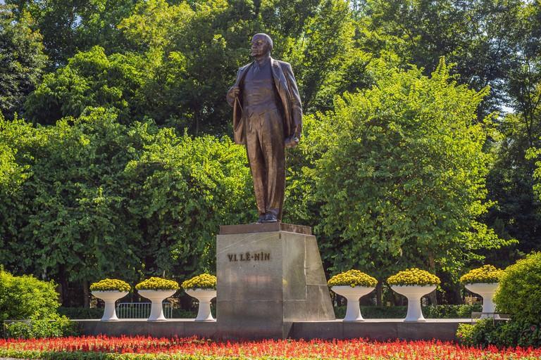 Monument 1982 Vladimir Lenin in Hanoi city. Sculptor Tyurenkova. Statue was presented to Vietnam by communist party of USSR