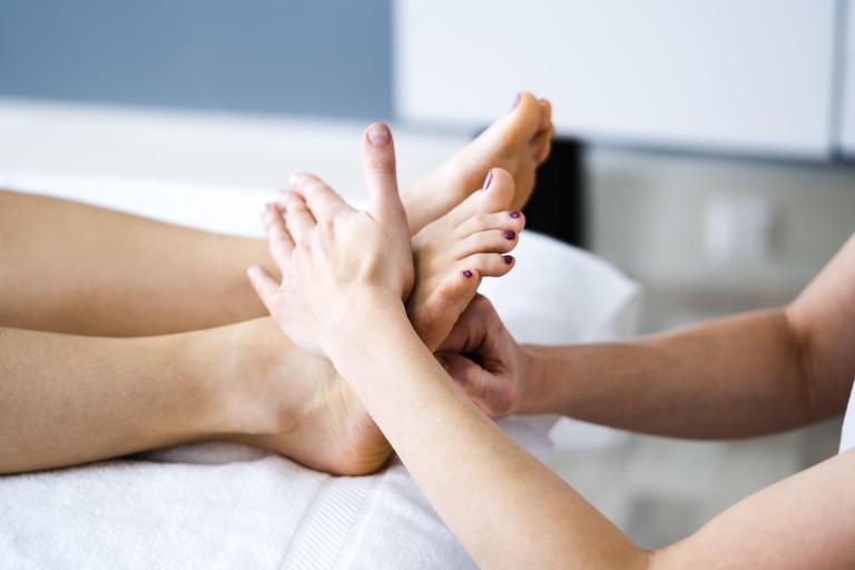 Foot Spa Massage And Reflexology Treatment By Therapist