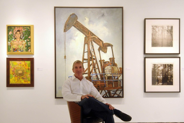Arthur Roger, owner of the New Orleans, Louisiana, gallery that bears his name, has a showcase of works created by artists before the oil spill changed the landscape but the gallery opened quietly, without the reception that traditionally accompanies new