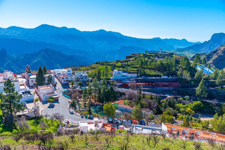 Landscape of Artenara village of Gran Canaria, Canary Islands, Spain.