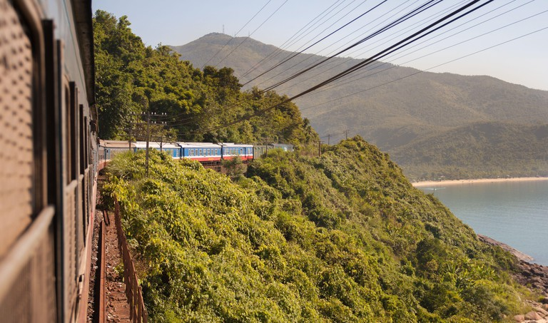 Beautiful landscape at The Reunification Express Railway in Vietnam