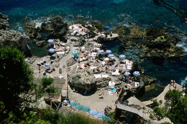 Capri Italy La Fontelina beach