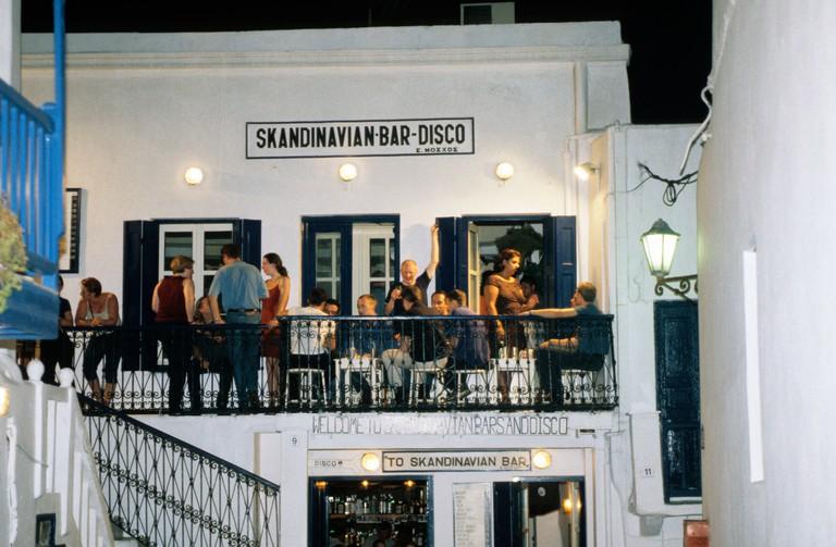 AGR8E9 greece cyclades myconos gay nightlife in myconos town